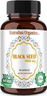 Natrolina Organics, Black Seed 1000mg 120 Capsules
