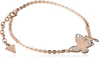 Guess Womens Stainless Steel Fashion Bracelet - UBB78051-L, Color Rose Gold, Size L
