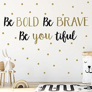 4 Sheets Inspirational Wall Decor Sticker Vinyl Wall Decor Quotes Wall Art Decal Sticker Be Bold, Be Brave, Be Youtiful Wa...