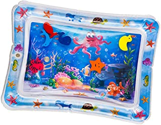 Perfeclan Inflatable Tummy Time Water Play Mat for Infants - Babies Fun Activity Play Center Stimulation Growth, 66 * 50cm