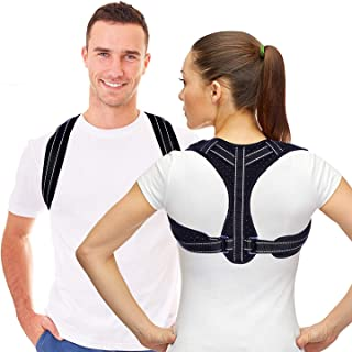 Posture Corrector for Men and Women,Fiber Reinforced Back Posture Corrector with Adjustable Breathable Clavicle Support Effective for Neck, Back and Shoulder Pain Relief (Unisex)