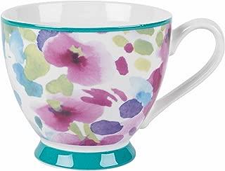 Portobello Sandringham Faye Polka Teal New Bone China Mugs Tea Cups, Set of 4