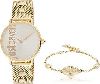 Just Cavalli Womens Quartz Watch, Analog-Digital Display and Stainless Steel Strap, JC1L077M0075