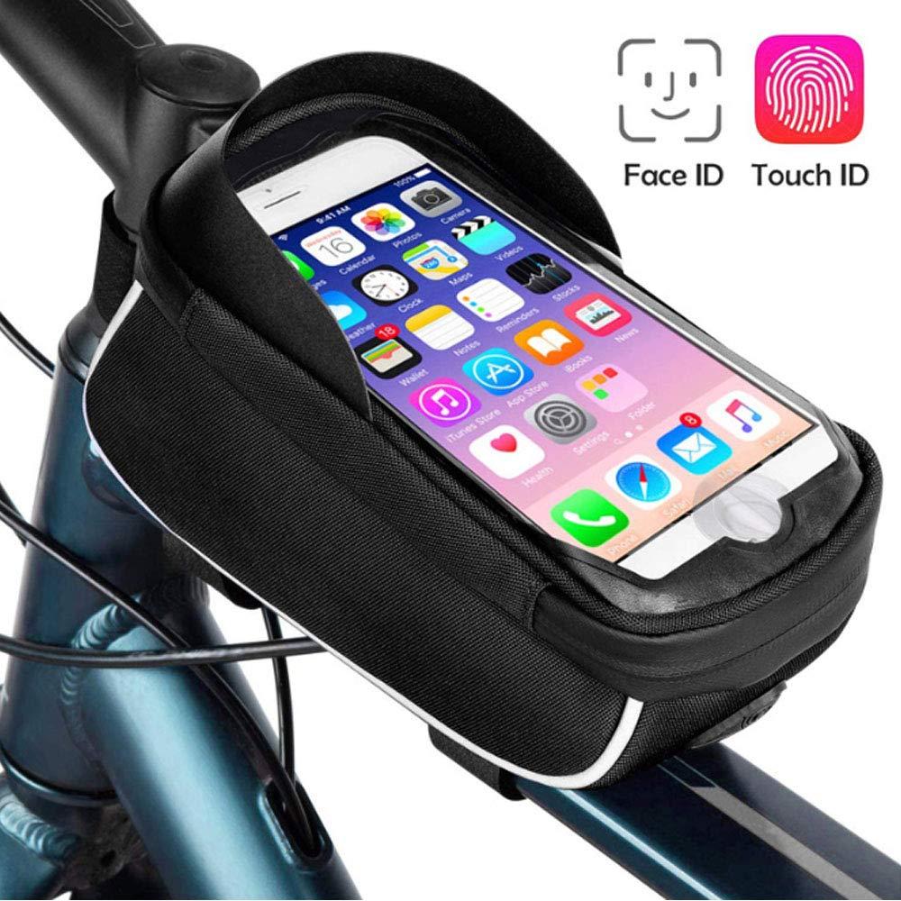 QWEIAS Bolsa Bicicleta Manillar, Bolsa Telefono Bicicleta con Pantalla TPU Táctil, Soporte Movil Bicicleta para Teléfono Inteligente por Debajo de 6,5 Pulgadas: Amazon.es: Hogar