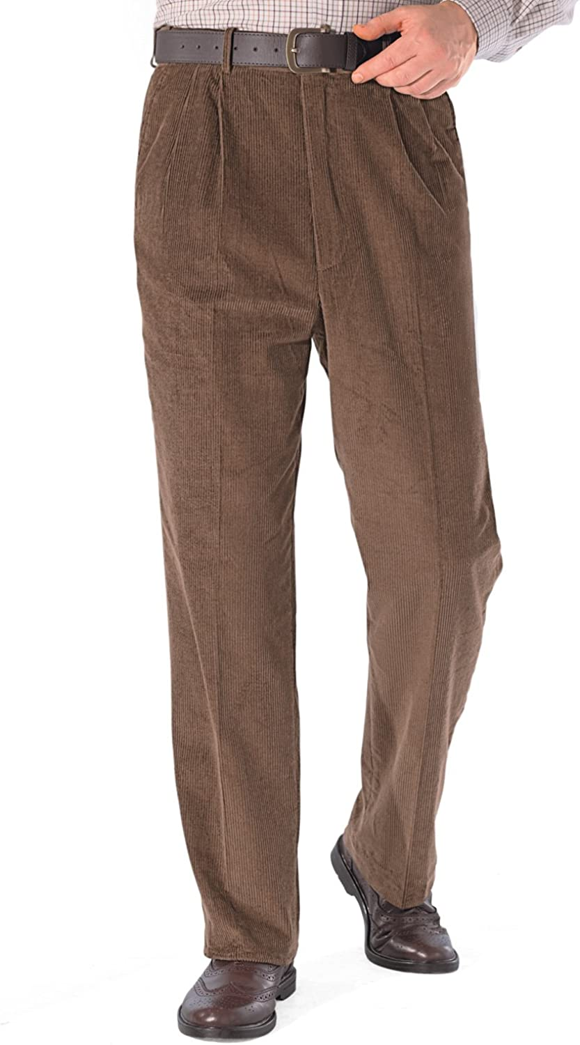 1950s Men's Pants, Trousers, Shorts | Rockabilly Jeans, Greaser Styles Mens HIGH-Rise Trousers Luxury Cotton Corduroy  AT vintagedancer.com