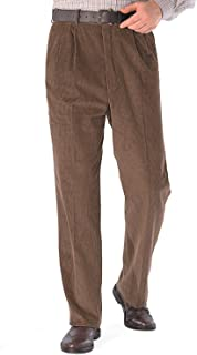 Chums Mens HIGH-Rise Trousers Luxury Cotton Corduroy
