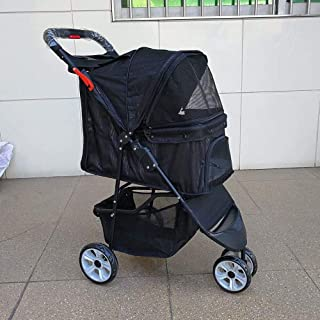 Zzyff Pet Stroller Out Dog Stroller Cat Stroller Can Be A Key to Collect 20 Kg Pets Available Light Folding Durable