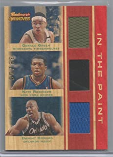 2007-08 Trademark Moves Basketball Gerald Green-Nate Robinson-Dwight Howard Triple Jersey Card # 35/50