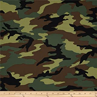 Windham Fabrics 0295842 Army Camo Green Fabric by The Yard