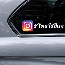 Instagram Personalized Car-Wall-Vinyl Decals Stickers, 15 Inches