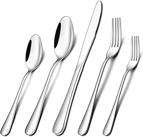 wholesale Umite Chef Silverware Set, Stainless Steel 20 Piece Flatware Cutlery Set Service for 4, Tableware Eating lowest Utensils Include Knives/Forks/Spoons, Mirror Polished, Dishwasher popular Safe online sale