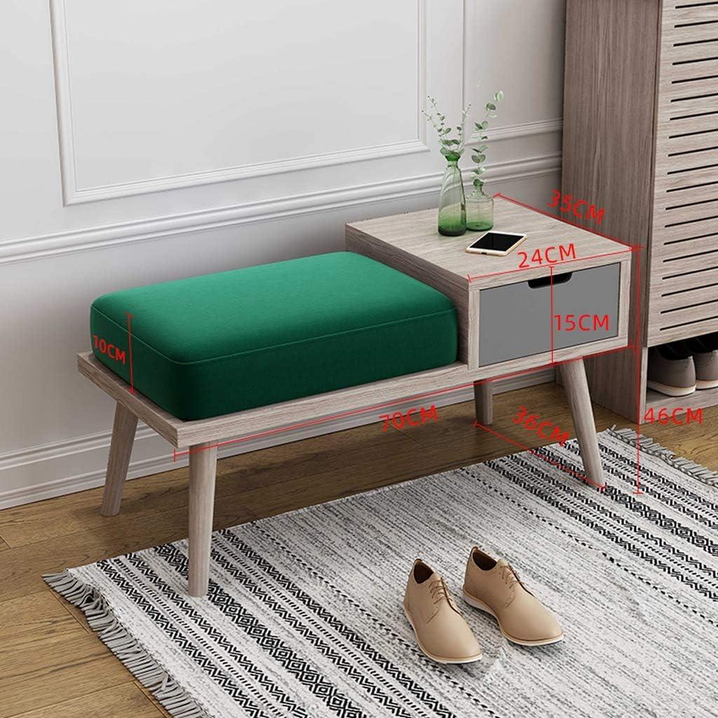 FFZW Atlanta Mall Hallway Storage Bench Recommended 2-Tier Wood Drawer with Shelf