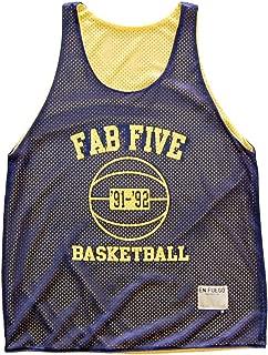 Michigan Fab Five Basketball Mesh Reversible