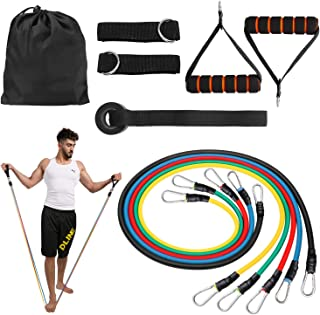 Energy Resistance Bands Set (11pcs),Exercise Bands with Door Anchor,Handles,Waterproof Carry Bag,Legs Ankle Straps for Resistance Training,Physical Therapy,Home Workouts