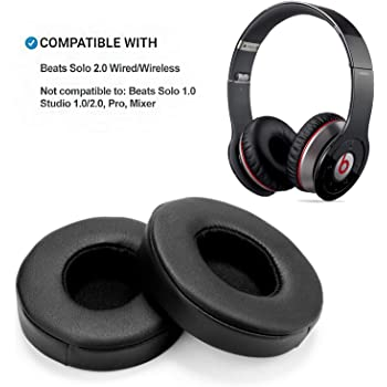 Amazon Com Solo 2 Wired Replacement Earpads Jarmor Protein Leather Memory Foam Ear Cushion Pads For Beats Solo2 Wired On Ear Headphones By Dr Dre Only Not Fit Solo 2 0 3 0 Wireless