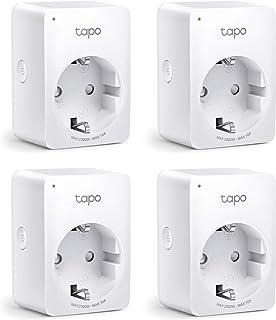 TP-Link Tapo P100 Amazon Alexa-accessoires Smart Home WLAN WiFi-aansluiting Stopcontact, Wit, 4 Stuks