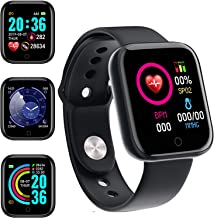 Smart Watch, Fitness Tracker with Heart Rate Monitor, Activity Tracker with 1.3 Inch Touch Screen,Waterproof,Sleep Monitor,Activity Tracker Pedometer for Women and Men,for iPhone Android' (black-2021)