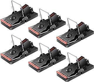 Wakana Trampas para Ratones, Reutilizable Trampa Ratones, Alta Sensibilidad, Fácil de Usar, trampas de Control de Mascotas para Interiores y Exteriores -Paquete de 6