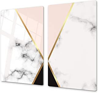 """Concept Crystal Tempered Glass Kitchen Board – Impact & Scratch Resistant; Measures: Single: 23,62"""" x 20,47""""; Double: 2 x 11,81"""" x 20,47""""; D10A Textures Series A: Marble"""