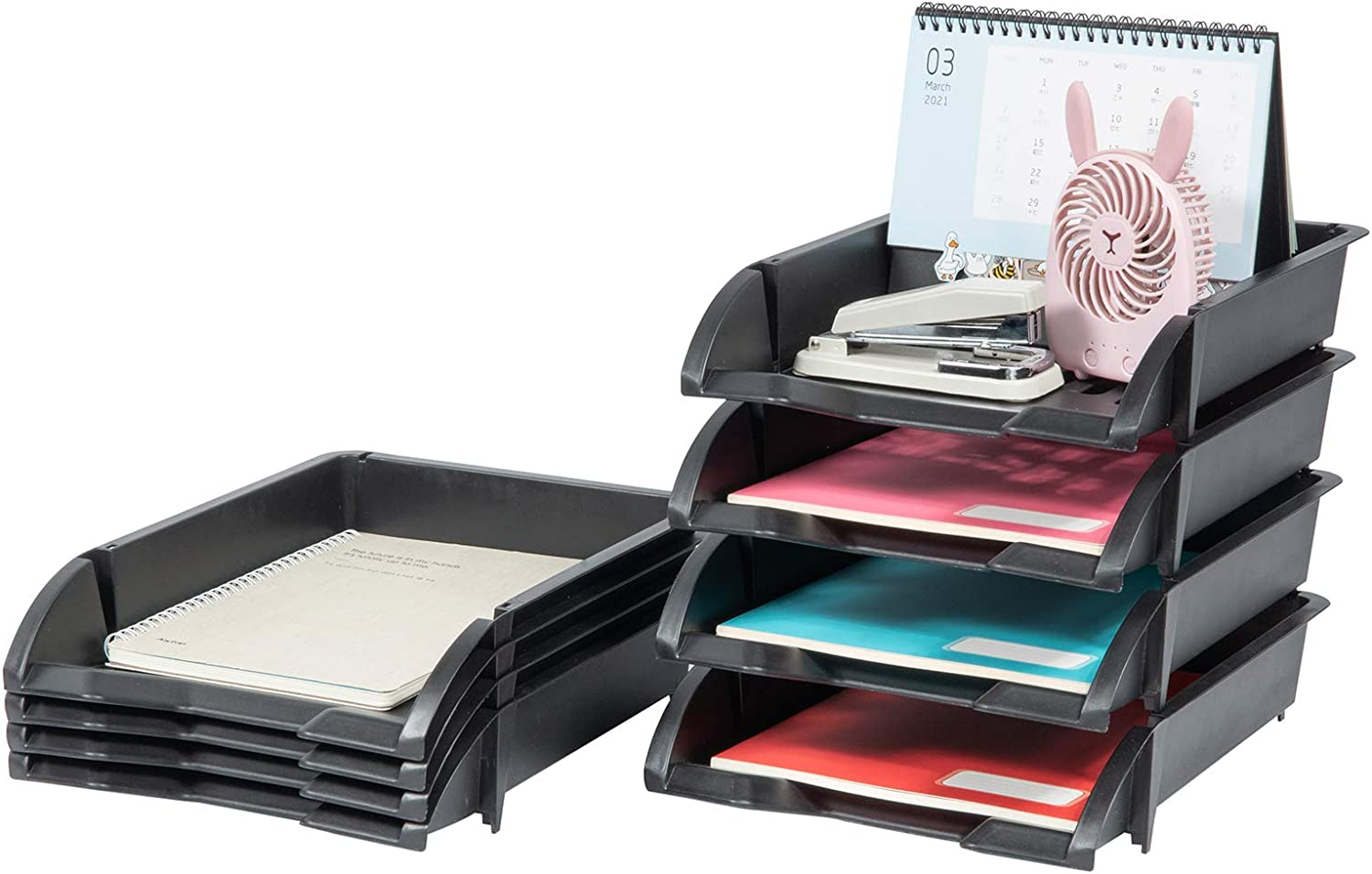 BYCY 8 Pack Stackable Letter Organizer 70% OFF Outlet Holder Paper Tray 2021 new Desktop