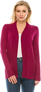 YourStyle Women Open Front Long Sleeve Classic Knit Cardigan