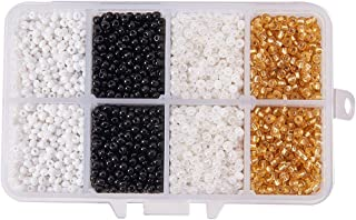 PH PandaHall About 5500 Pcs 8 0 Czech Glass Seed Beads Lined Pony Bead Tiny Spacer Beads Diameter 3Mm With Container Box 4...
