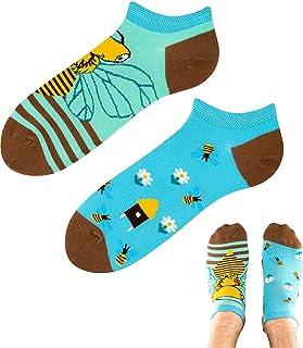 TODO Calcetines divertidos con diseño de abejas en la pradera LOW divertidos calcetines de tobillo para hombre y mujer