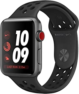 Apple Watch Nike+ Series 3 38mm (GPS + Cellular Unlocked, Space Gray Aluminum Case with...
