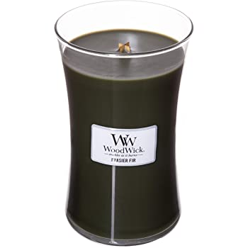 WoodWick Frasier FIR, Highly Scented Candle, Classic Hourglass Jar, Large 7 inches, 21.5 OZ