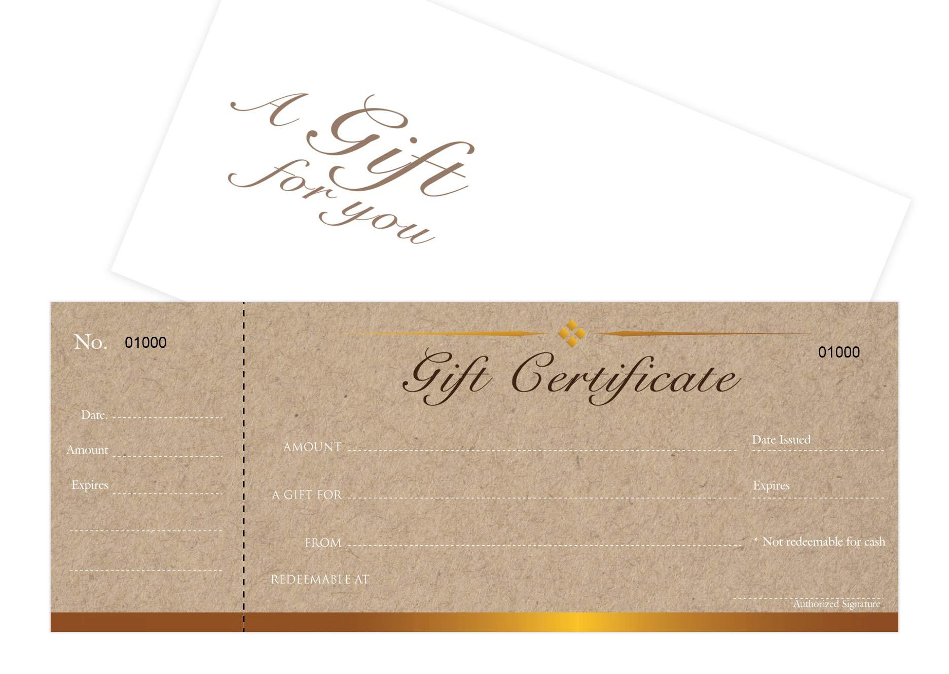 Blank Gift Certificates Cards With Envel Buy Online In Israel At Desertcart