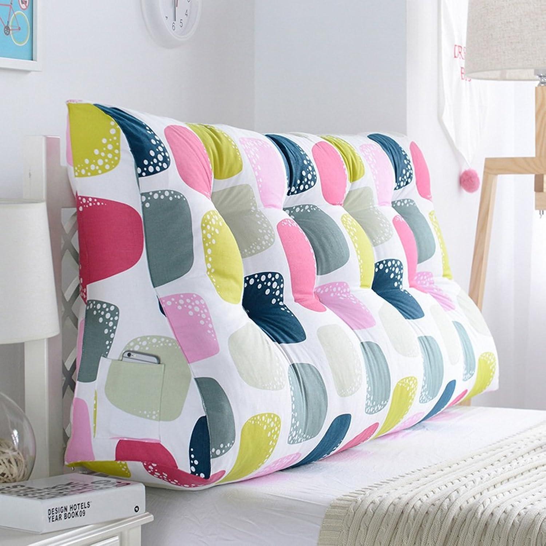 Cushions Liuwenan Grand Double Tête De Lit Coussin Sac Souple Triangle Coussin Arrière Oreiller Canapé Oreiller Lombaire Prougeégez La Taille (Couleur   2, Taille   150×60×30CM)