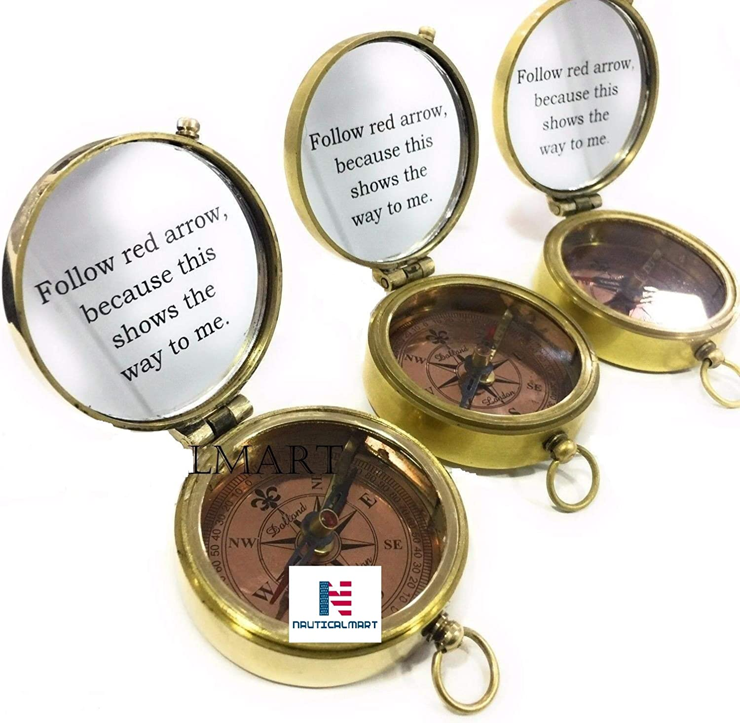 NauticalMart Brass Compass Max 48% OFF Engraved to You Show Marin Way High order The