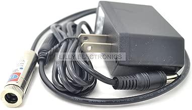 Focusable Laser Module Violet-blue Line Laser Diode 100mW 405nm 5v w/AC Adapter