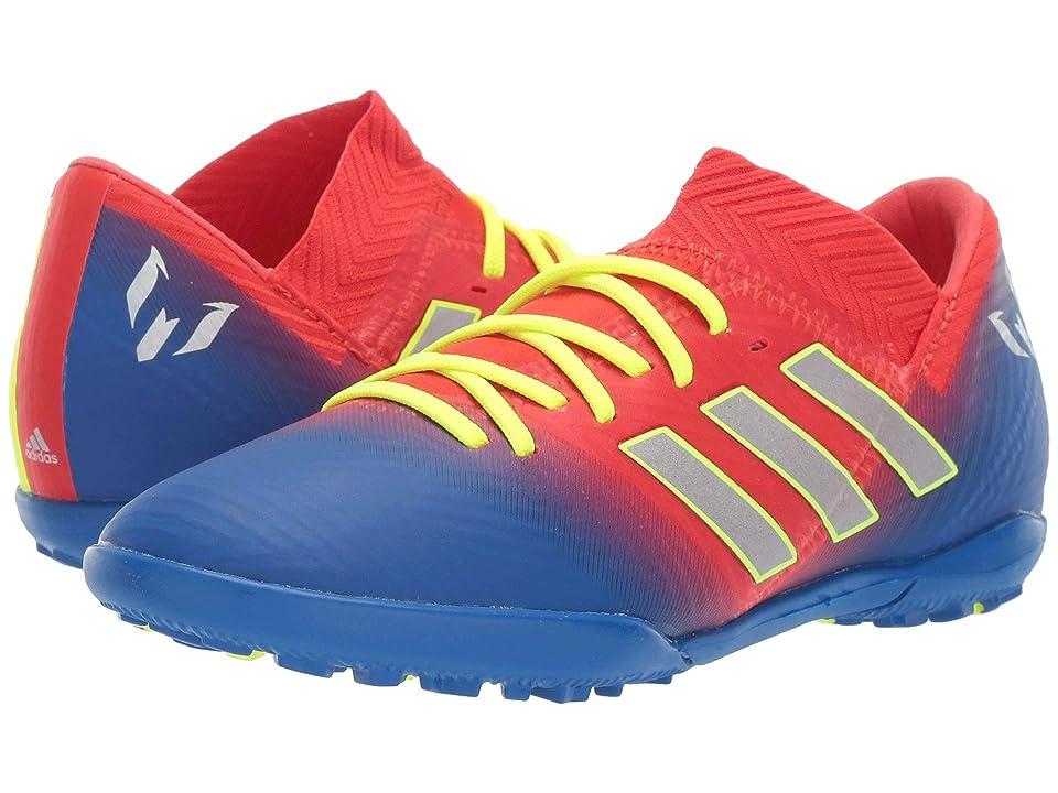 adidas Kids Nemeziz Messi 18.3 TF Soccer (Little Kid/Big Kid) (Active Red/Silver/Blue) Kids Shoes