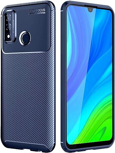 جراب TingYR لهاتف Samsung Galaxy Quantum 2، فائق النحافة من مادة TPU لامتصاص الصدمات، مضاد للخدش، غطاء مطاطي مرن ممتاز، غطاء لهاتف Samsung Galaxy Quantum 2 الذكي. (ازرق)