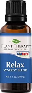 Plant Therapy Essential Oil | Relax Synergy | Sleep & Stress Blend | 100% Pure, Undiluted, Natural Aromatherapy, Therapeutic Grade | 30 Milliliter (1 Ounce)