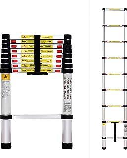 comprar comparacion Todeco - Escalera Telescópica, Escalera Plegable - Carga máxima: 150 kg - Estándar/Certificación: EN131 - 2,6 Metro(s), EN...