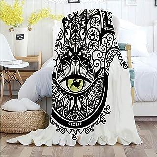 Evil Eye,Throw Blankets,Flannel Plush Velvety Super Soft Cozy Warm with/Vivid Illustration All Seeing Eye Symbol Energy Fantasy Magic Religious Decorative/Printed Pattern(50