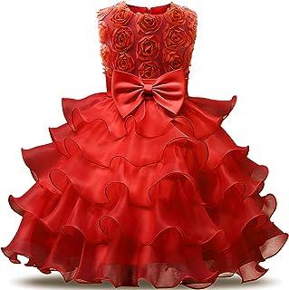 10ce4dc79e778 NNJXD Robe de Filles Gamins Volants Dentelles Robes de Mariage pour Les  Parties