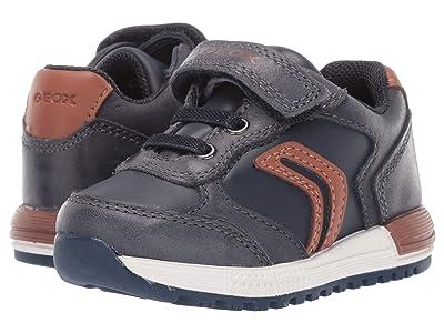 Geox Kids Alben 5 (Toddler) (Navy/Cognac) Boys Shoes