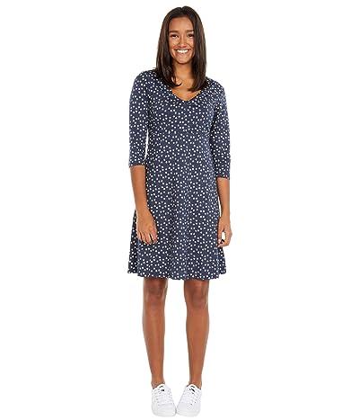 Toad&Co Rosalinda Dress (True Navy Daisy Chain Print) Women