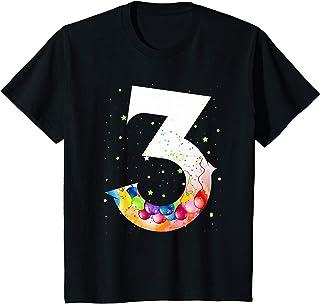 Enfant 3 fille d'un an cadeau drôle shirt 3er garçon d'anniversaire T-Shirt
