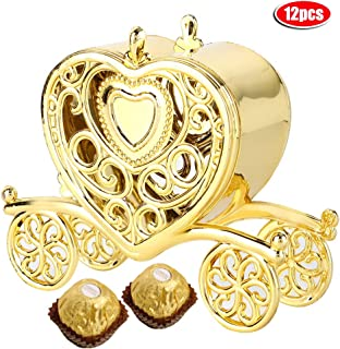 AUNMAS 12pcs Romantic Candy Box Heart-Shaped Wedding Gifts Box Banquet Party Decorative Storage Box (1#)