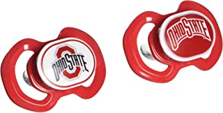 Baby Fanatic NCAA Ohio State Buckeyes Unisex OST212Gen. 3000 Pacifier 2-Pack - Ohio State University, See Description, See Description