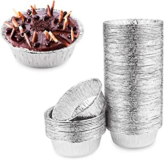"Oopsu 125 Pack 5"" Round Tart Pie Foil Pans Disposable Pans Aluminum Foil Tart & Pie Tins Pans for Baking,Cooking,Storage o..."