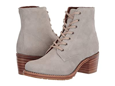 Frye Sabrina 6G Lace Up (White Sky Hairy Suede) Women