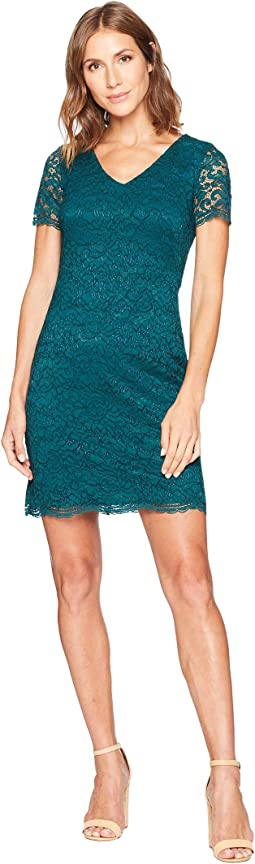Panel Lace Gordy Short Sleeve Day Dress