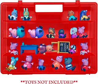 Life Made Better Kid Play Strengthened, Redesigned Carrying Toy Holder, Red Protective Case, Compatible with Peppa Pig Figures Playset Organizer. Accessories