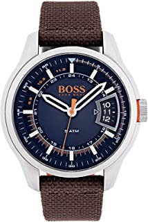 Hugo Boss Men's Orange Hong Kong Blue Dial Fabric Band Watch - 1550002