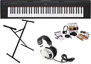 Yamaha NP32B KIT Piaggero 76-Key Keyboard with Survival Kit, Headphones, and Stand